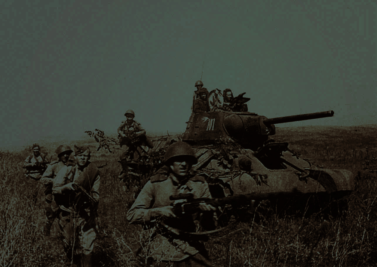T-34-and-Red-army-advance